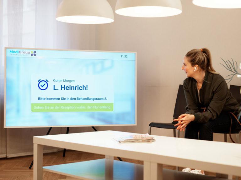 Aufruf des Patienten über Smart-TV - Patiententerminal
